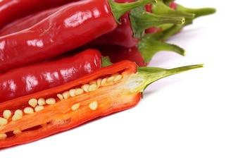 Deliciosos pimientos rojos