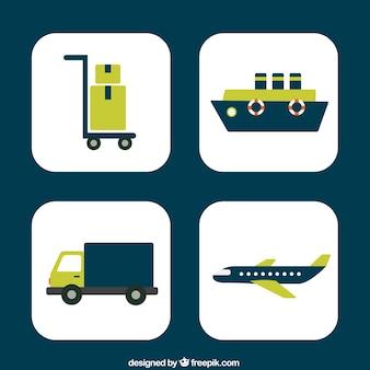 Iconos de entrega