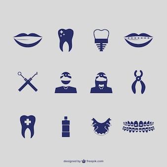 Vectores de iconos de dentista