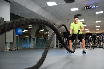 Deporte ejercicio de la salud olas de fitness