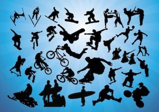 deportes vectores de acción