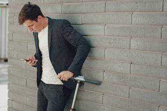 Desarrollo de tecnología de fondo masculino smartphone
