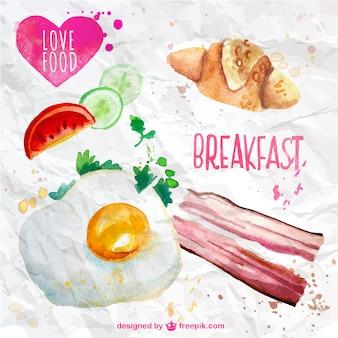 Desayuno Acuarela
