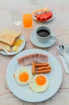 Desayuno en la mañana