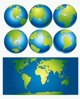 Descarga vector mapa del mundo
