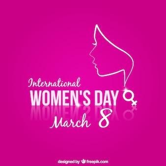 Día de la Mujer con fondo de color rosa