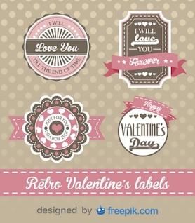 Día de San Valentín diseño estilo retro