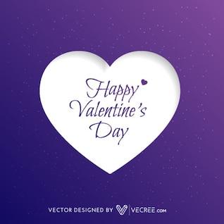Día de San Valentín tarjeta púrpura