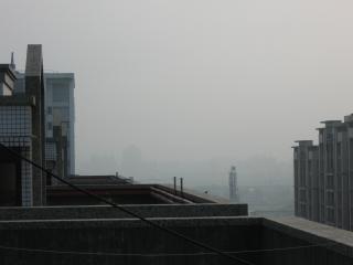 día nublado, niebla