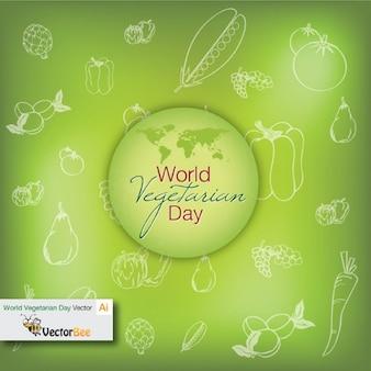 Día vegetariano mundo con fondo fresco