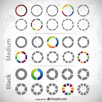 Diagramas circulares paquete