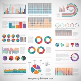 Diagramas de colores para infografía
