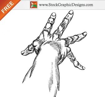 Dibujado a mano Arte Manos vectoriales sin