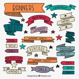 Dibujado a mano banners