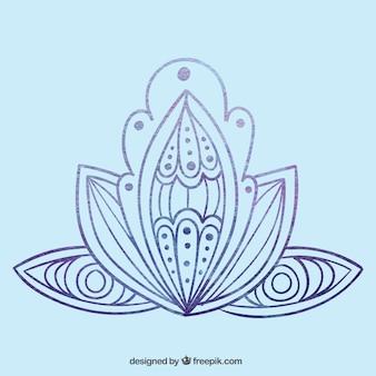 Dibujado a mano flor abstracta