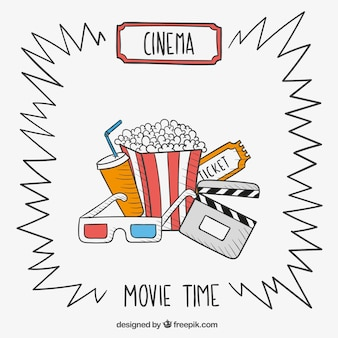 Dibujado a mano tiempo de película