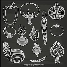 Dibujado a mano verduras