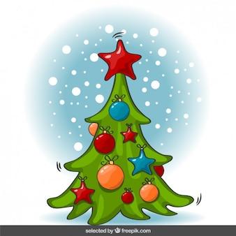 Dibujo animado del árbol de Navidad
