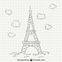 Dibujo de la torre Eiffel