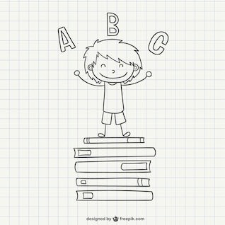 Dibujo de niño de escuela