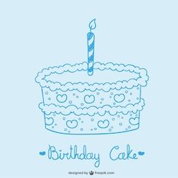 Dibujo de pastel de cumpleaños