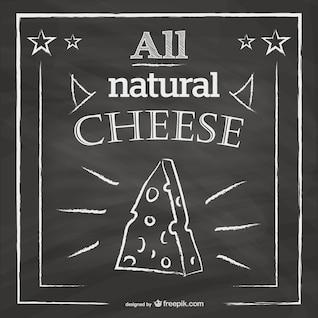 Dibujo de queso en pizarra