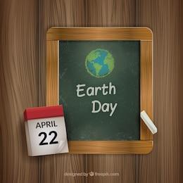 Dibujo de tiza del día de la tierra