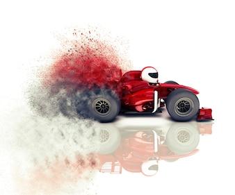 Dibujo de un coche de carreras