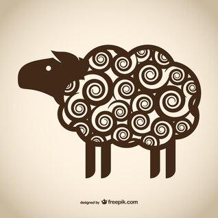 Dibujo decorativo de oveja