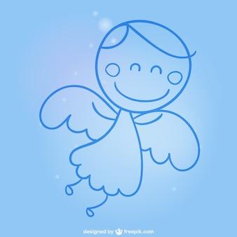 Dibujo sencillo de ángel