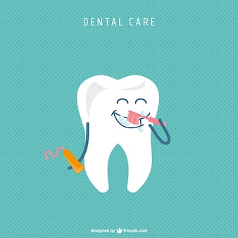 Dibujo simpático de diente