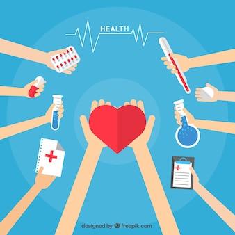 Dibujos animados de asistencia médica