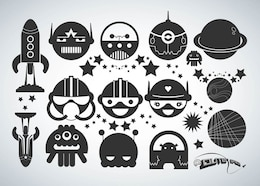dibujos animados espacio vectorial