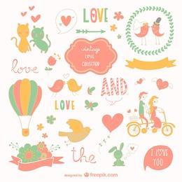 Dibujos con temática de amor