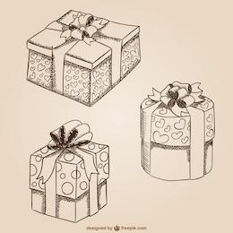 Dibujos de cajas de regalo