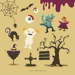 Dibujos de personajes de Halloween