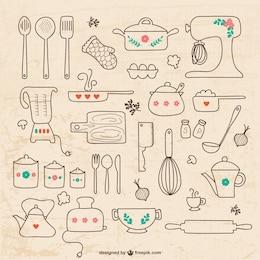Dibujos de utensilios de cocina
