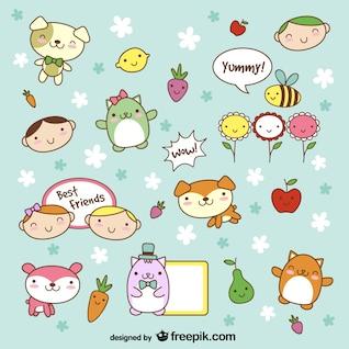 Dibujos lindos de animales