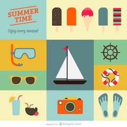 Dibujos planos de verano