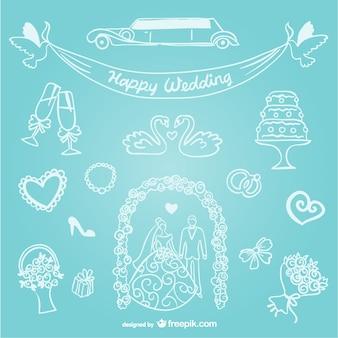 Dibujos simples de boda
