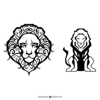 Dibujos simples de leones