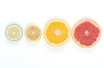 Diferentes citrícos