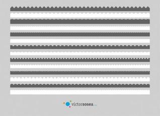 diferentes fronteras en blanco y gris