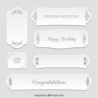 Diferentes carteles de felicitación florales