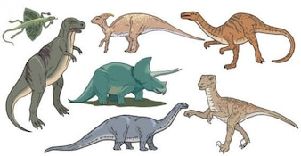 Dinosaurios Imagen vectorial gratis