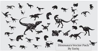 Dinosaurios vectoriales sin