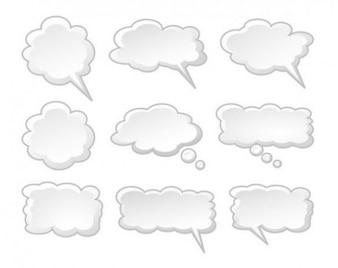 Discurso Nubes Vector