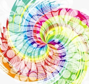 diseño abstracto colorido del remolino de vectores de fondo