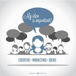 Diseño conceptual de comunicación en márketing