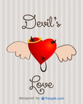 Diseño de amor endiablado concepto en vector